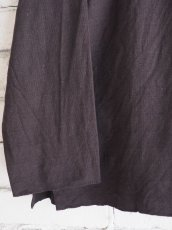 画像3: YAECA 【WOMEN'S】 (60130) 別注ログウッド染め カディコットンクルタシャツ (3)