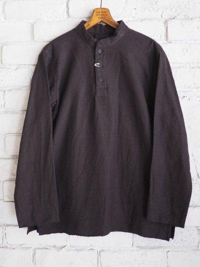 画像1: YAECA 【WOMEN'S】 (60130) 別注ログウッド染め カディコットンクルタシャツ