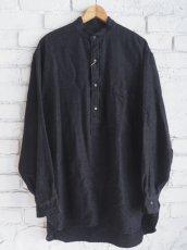 画像1: COMOLI ウールシルクプルオーバーシャツ (1)