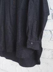 画像4: COMOLI ウールシルクプルオーバーシャツ (4)
