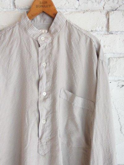 画像2: COMOLI シルク プルオーバーバンドカラーシャツ