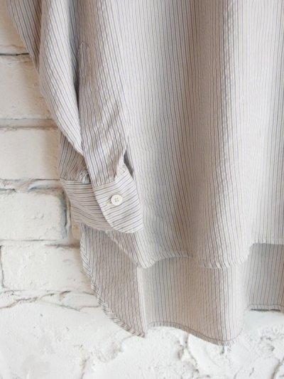 画像3: COMOLI シルク プルオーバーバンドカラーシャツ