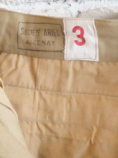 画像3: DEADSTOCK 60's FRENCH ARMY SHORT PANTS デッドストック 60年代 フランス軍 ショートパンツ