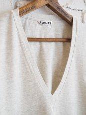 画像5: AURALEE (レディース) シームレスVネックTシャツ (5)