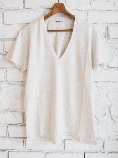 画像1: AURALEE (レディース) シームレスVネックTシャツ