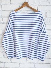 画像1: OUTIL TRICOT AAST ボーダーバスクシャツ (1)
