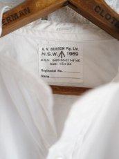 画像8: DEADSTOCK 60〜70's AUSTRALIAN ARMY BAND COLLAR DRESS SHIRT (DOUBLE CUFFS) 60〜70年代 デッドストック オーストラリア軍 バンドカラードレスシャツ ダブルカフス (8)