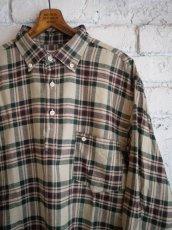 画像4: SUNSHINE+CLOUD スリップオンフランネルチェックシャツ (4)