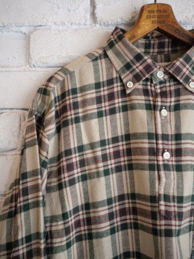 画像2: SUNSHINE+CLOUD スリップオンフランネルチェックシャツ