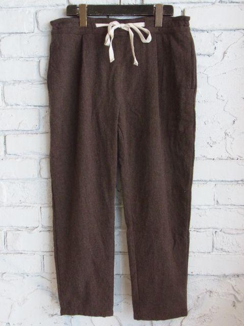 画像1: Yarmo BRUSHED FLANNEL EASY PANTS (1)