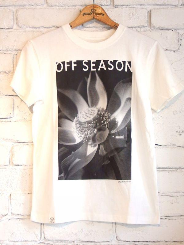 画像1: OFF SEASON オーガニックコットン フォトTシャツ (1)