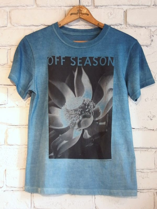 画像1: OFF SEASON オーガニックコットン フォトTシャツ(INDIGO ART by LITMUS) (1)
