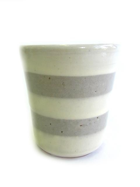 画像1: 山根窯 筒湯呑 (1)