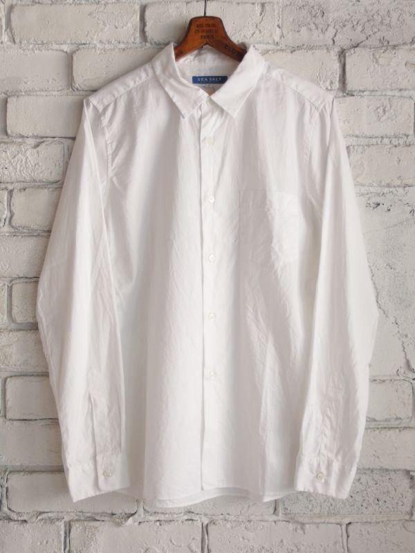 画像1: SEA SALT  (レディース) レギュラーカラーシャツ (1)