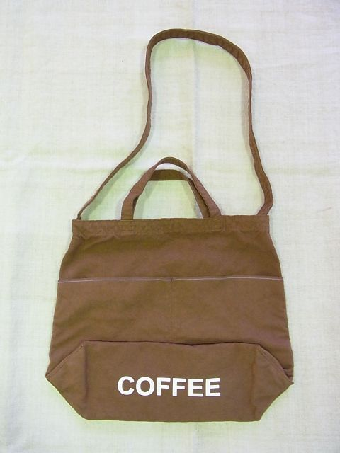 画像1: ●grown in the sun NEW MARKET BAG COFFEE (1)