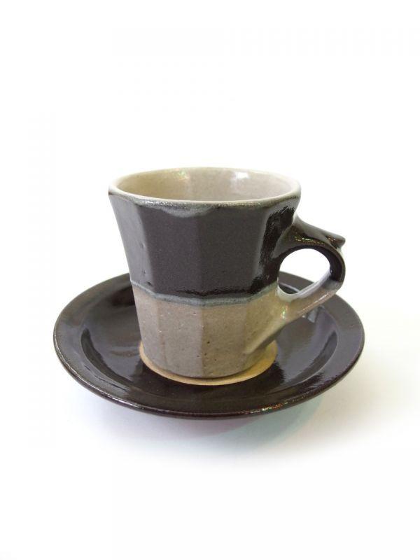 画像1: 山根窯 面取コーヒーカップ (1)