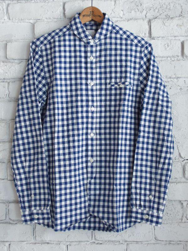 画像1: maillot ビックギンガムワークシャツ (1)