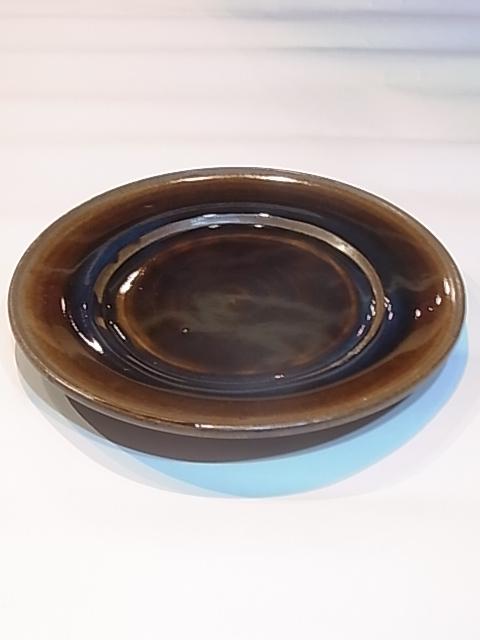 画像1: 出西窯 縁付きプレート皿 (8寸) (1)