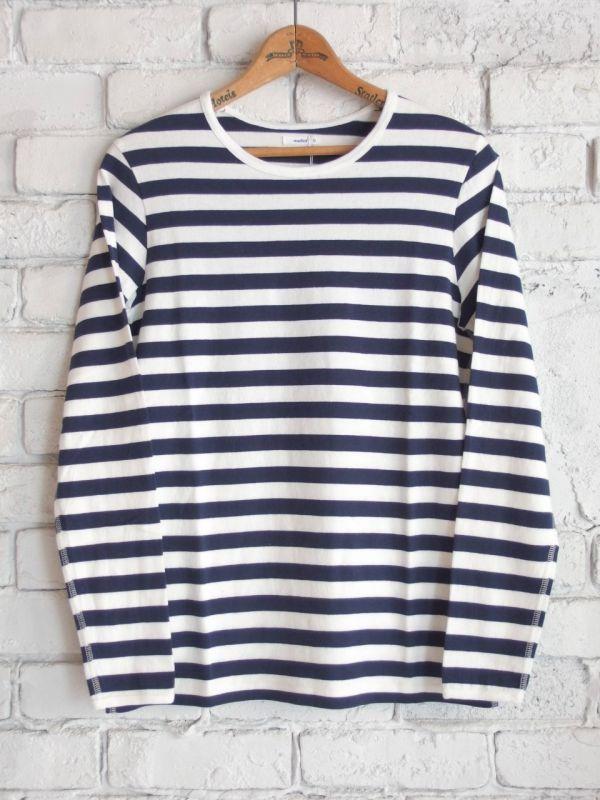 画像1: maillot 定番厚手ボーダーL/S Tシャツ (1)