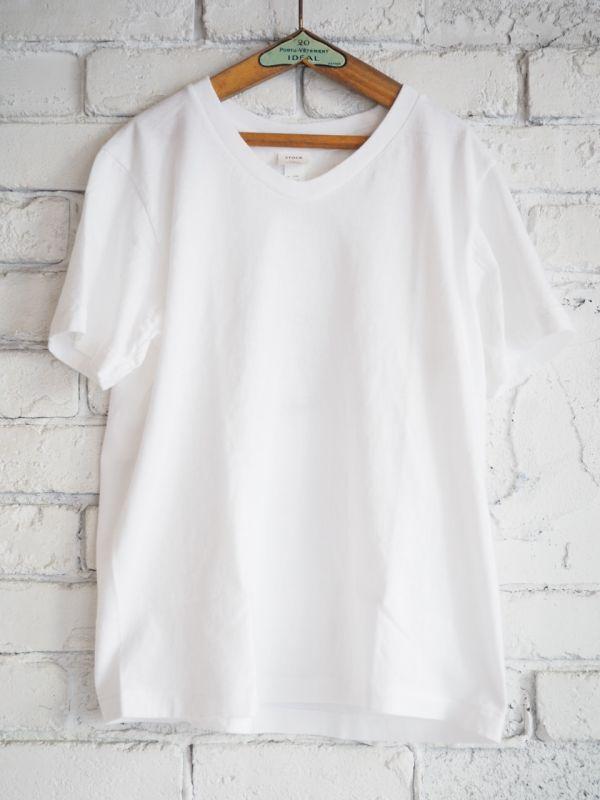 画像1: YAECA STOCK【WOMEN'S】(170209)丸胴UネックTシャツ (1)