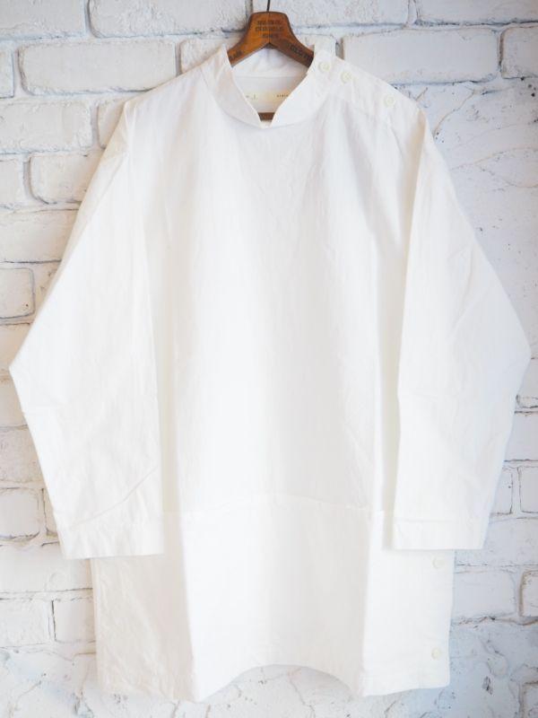画像1: nisica【レディース】 スモッグロングシャツ (1)