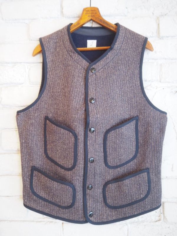 画像1: ANATOMICA BB CLOTH VEST (BB クロスベスト) (1)