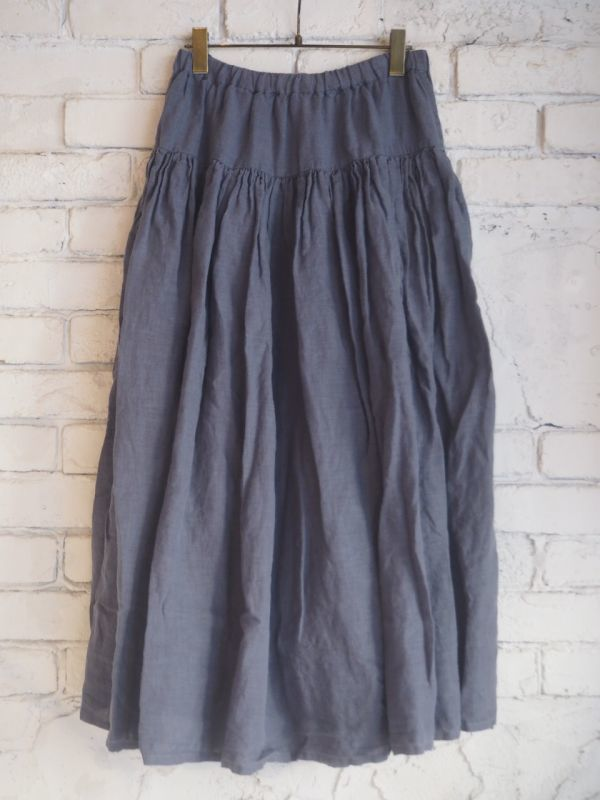 画像1: Veritecoeur 【WOMEN'S】 VC-1659 ヨークギャザースカート (1)