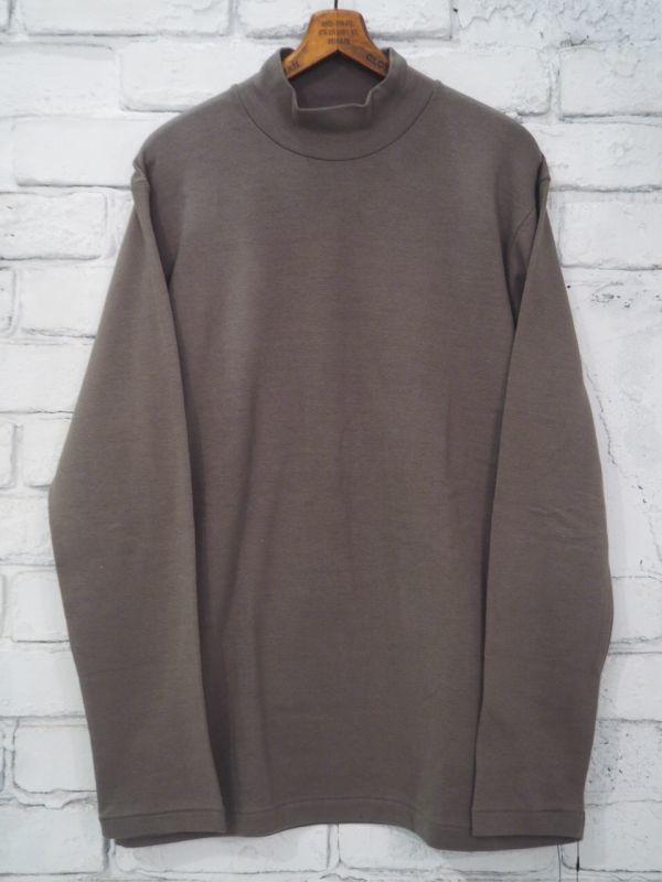 画像1: ANATOMICA MOCK NECK TEE (モック ネック ティーシャツ) (1)