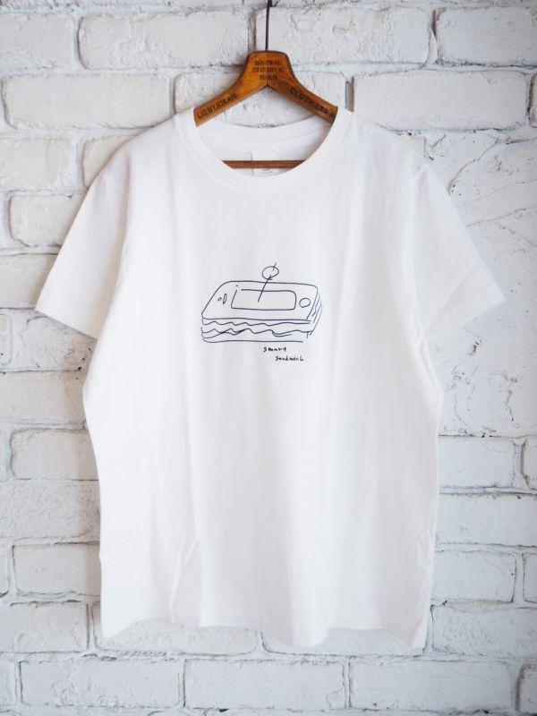 画像1: YAECA (38009) プリントTシャツ SANDWICH (1)