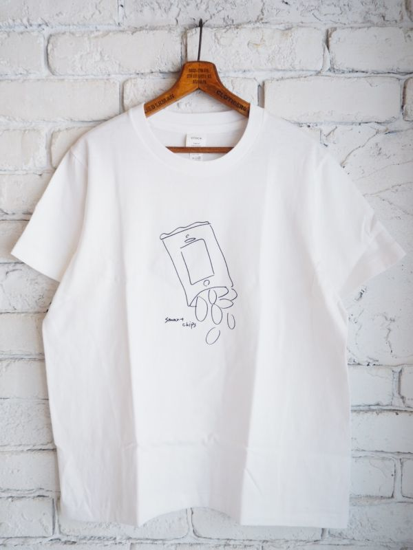画像1: YAECA 【WOMEN'S】 (88007) プリントTシャツ CHIPS (1)