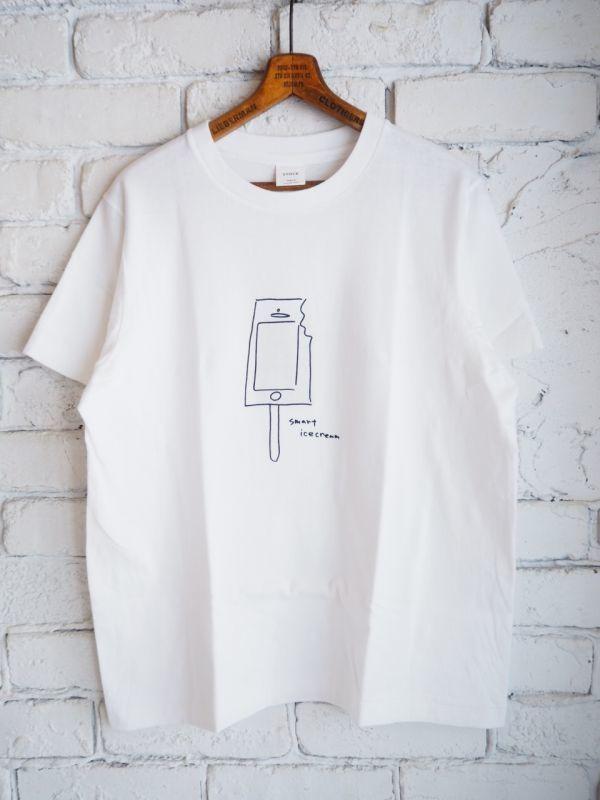画像1: YAECA 【WOMEN'S】 (88008) プリントTシャツ ICE CREAM (1)