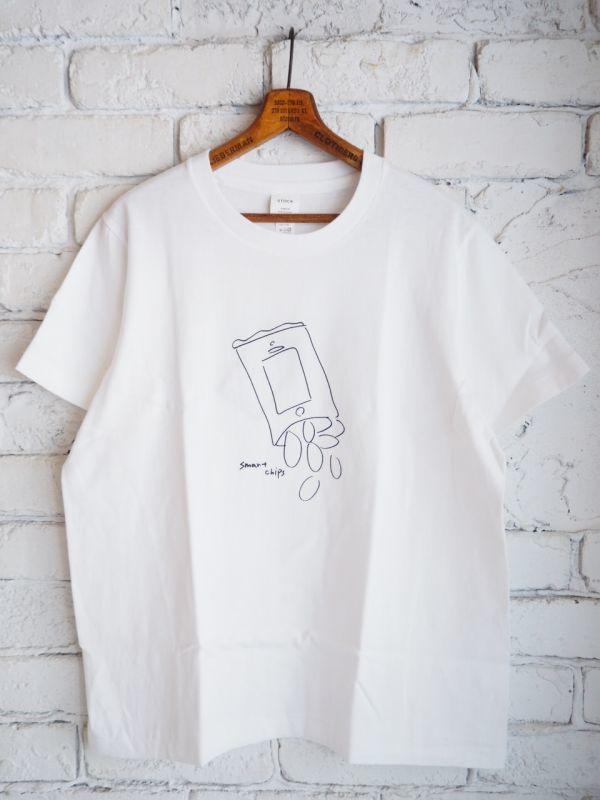 画像1: YAECA (38007) プリントTシャツ CHIPS (1)