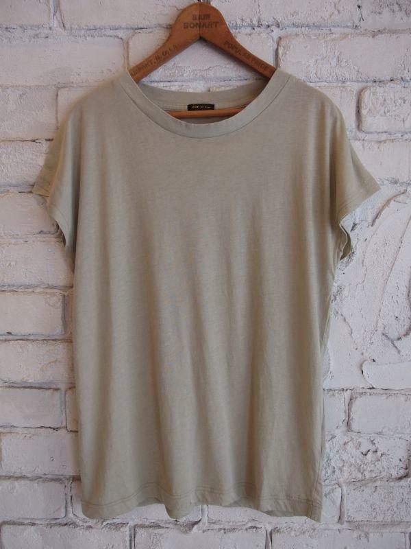 画像1: R&D.M.Co- / OLDMAN'S TAILOR ハイゲージ フレンチスリーブTシャツ (1)