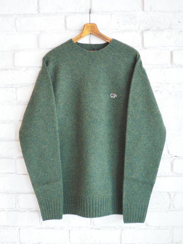 画像1: Scye シェットランドWGクルーネックセーター (1)