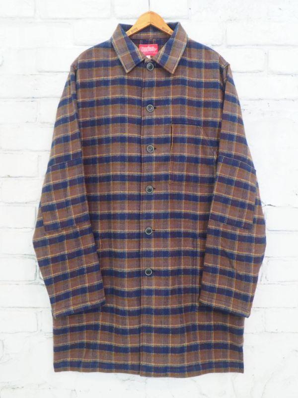 画像1: ●SUNSHINE+CLOUD ロングシャツジャケット (1)