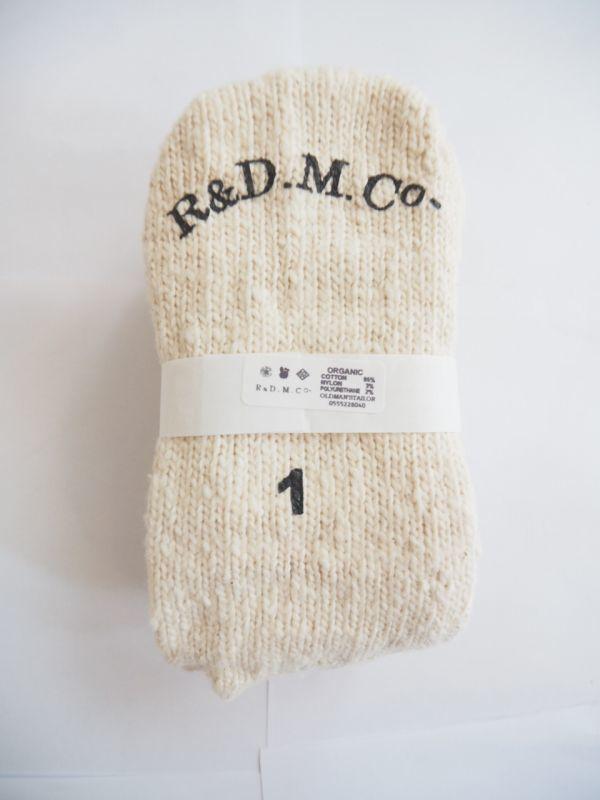 画像1: R&D.M.Co- / OLDMAN'S TAILOR ガラ紡Socks (1)