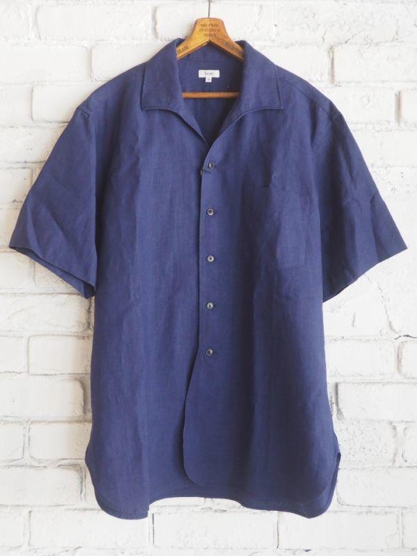 画像1: Scye リネン高密度 イタリアンカラーシャツ (1)