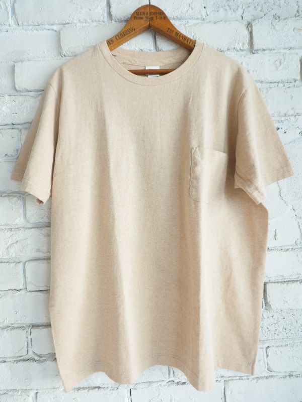 画像1: YAECA(39012)丸胴ポケットクルーネックTシャツ (1)