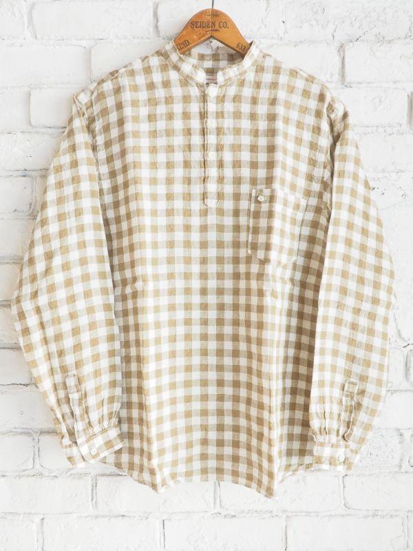 画像1: SUNSHINE+CLOUD ニュースタンダ ナチュラルリネンギンガムチェックシャツ (1)
