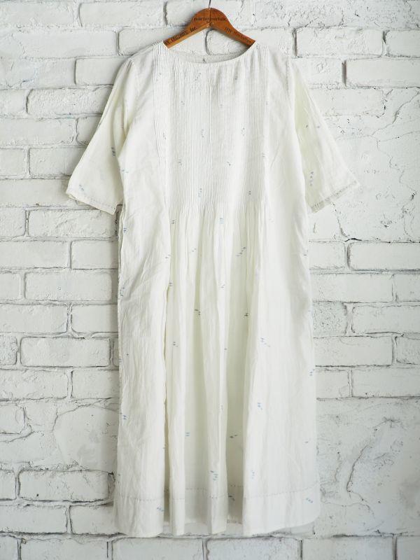 画像1: maku textiles ジャムダニピンタックドレス G1911 (1)