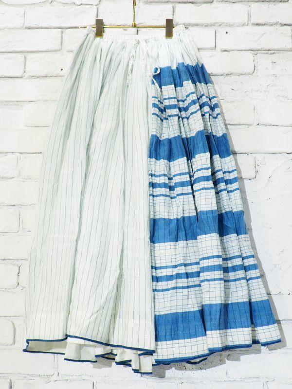 画像1: maku textiles シルクコットンペチコートスカート G1748 (1)