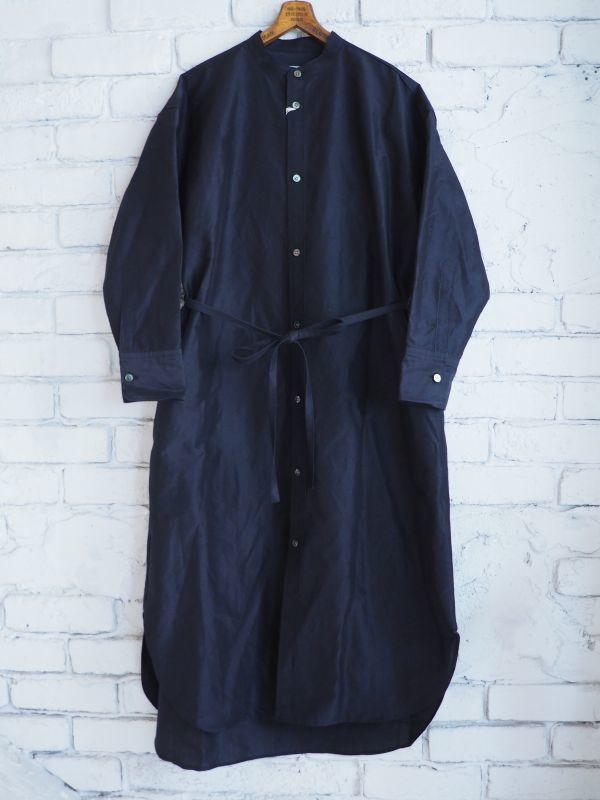 画像1: R&D.M.Co- / OLDMAN'S TAILOR スタンドカラーロングシャツ (1)
