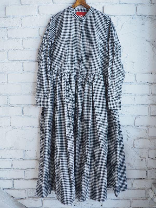 画像1: R&D.M.Co- / OLDMAN'S TAILOR メタルフロントオープンドレスシャツ (1)