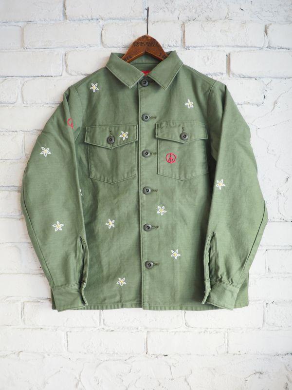 画像1: ●grown in the sun joe cool ユーティリティーシャツジャケット (刺繍あり)  (1)