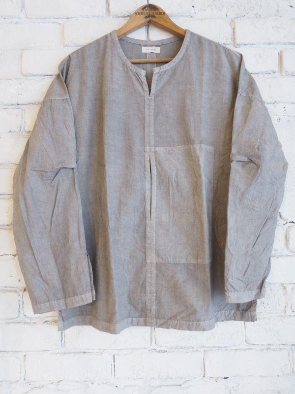画像1: THE HINOKI オーガニックコットンポプリンプルオーバーシャツ (1)