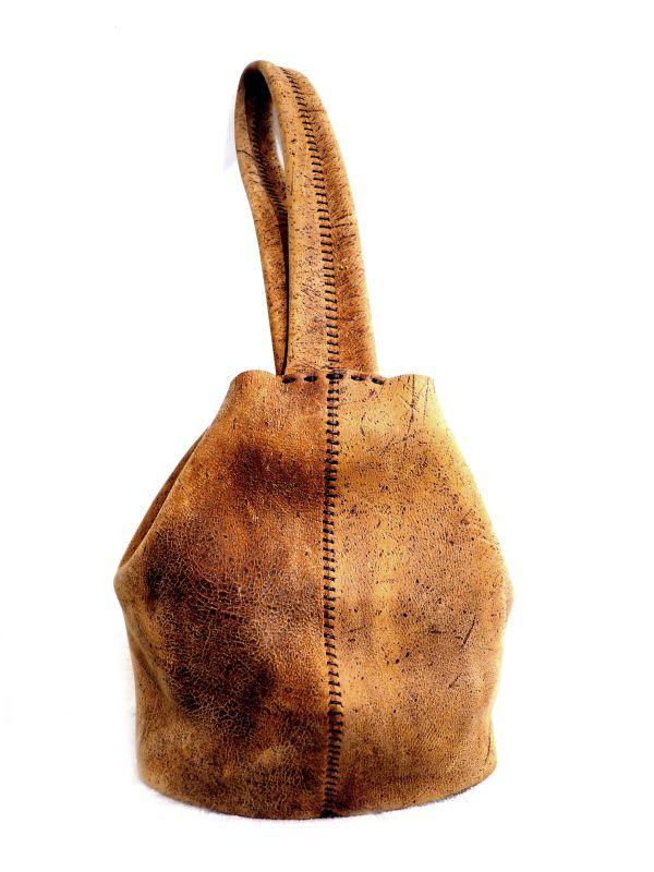 画像1: N25  ペンタゴン巾着バッグ M (1)