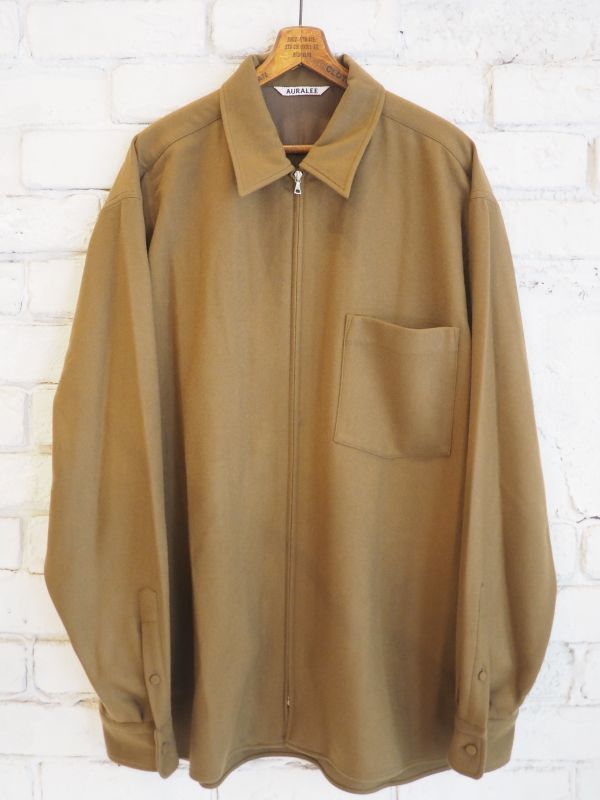 画像1: AURALEE スーパーソフトウールフランネルジップシャツ (1)