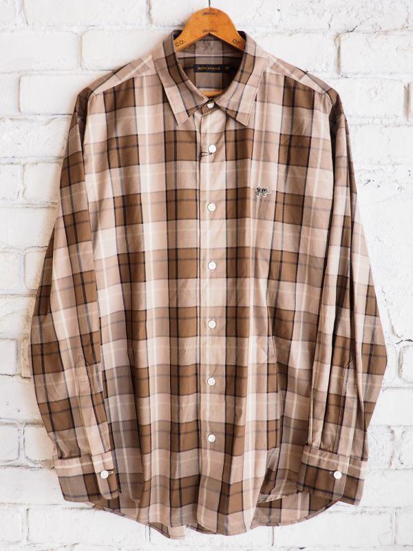 画像1: Scye コットンオックスフォード チェックシャツ (1)