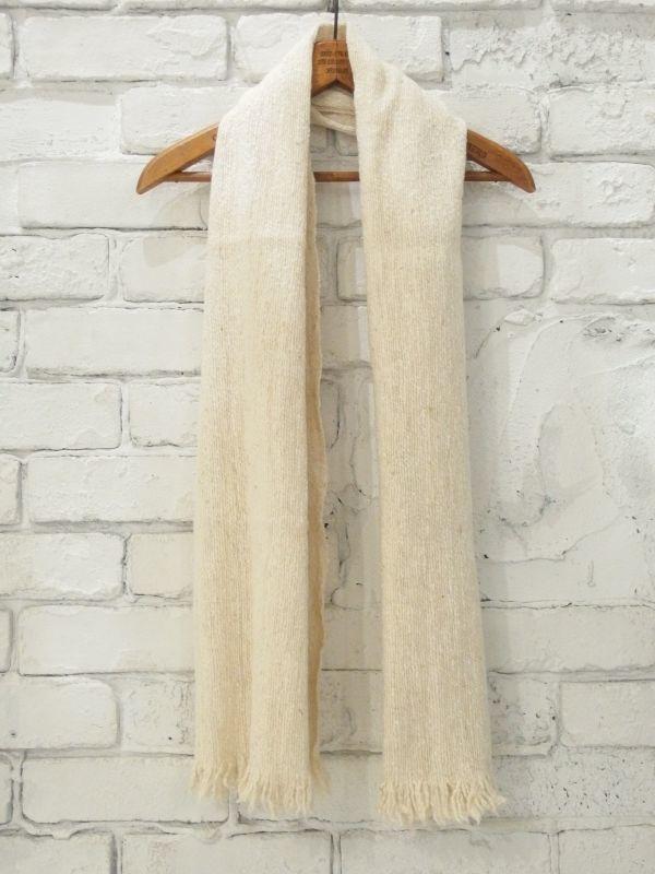 画像1: F/style シルクとウールのホームスパン ストール (1)