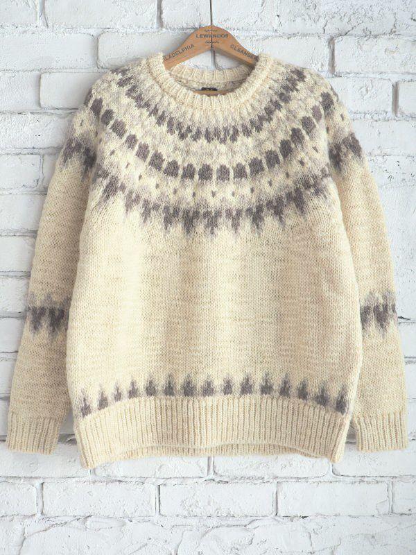 画像1: BATONER nondied-wool nordic sweater ベルーリアエクスクルーシブ (1)